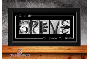 Black Wedding Name Art - 4