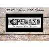 Canvas-Black Tie Name Art - 12