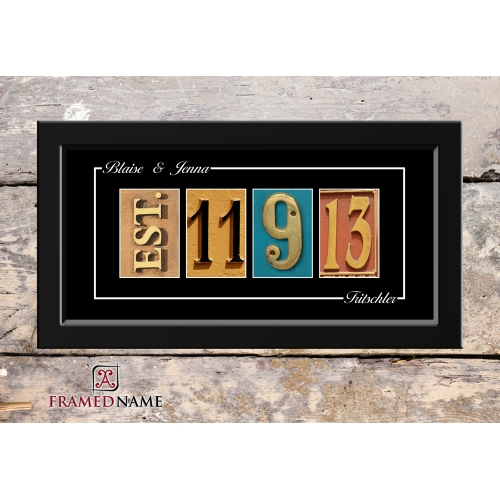 Wedding Date Art | Number Photo Art Frame