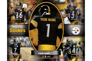Personalized NFL Action Collage Sports Name Prints