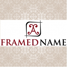 A Framed Name Logo