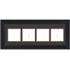 Black Empty Frames - 3-9 Letters