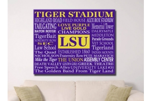LSU CANVAS CAMPUS WORD ART