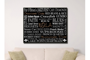 NOLA CANVAS WORD ART
