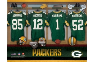 Personalized NFL Locker Room Name Prints