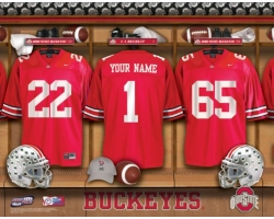 Personalized College Locker Room Name Prints