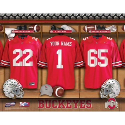Personalized College Locker Room Name Prints Framed And