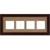 Mahogany Empty Frames - 3-9 Letters
