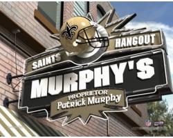 Personalized NFL Pub Hangout Name Prints