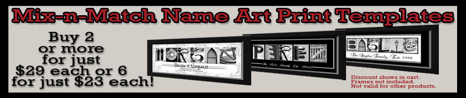 Name Art Print Deal