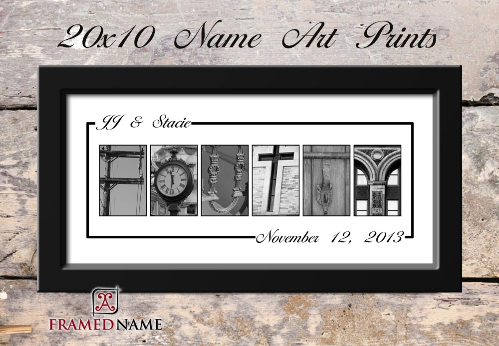 Foutty White Wedding Name Art Print