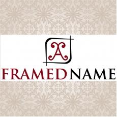 A Framed Name Logo